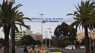 Eritrea lines up Asmara streets with Ethiopian flags to welcome Abiy