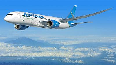 Tanzania: Air Tanzania Boeing 787-8 Dreamliner lands in d'Salaam