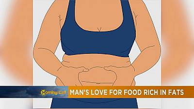 Man's love for food rich in fats