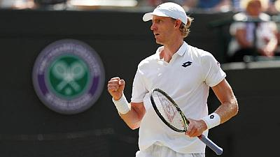 South Africa's Anderson stuns Federer in Wimbledon quarter-final
