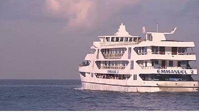 Le bateau transport majeur sur le Lac Kivu