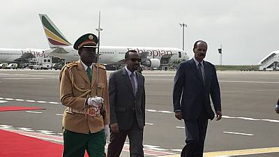 Eritrean leader gets rousing welcome as he 'returns home' to Ethiopia