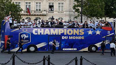 039;Les Bleus&#039 come home after World Cup win