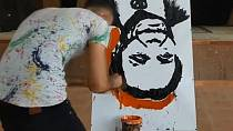 Egyptian speed painter creates upside down portraits at lightning speed [No Comment]