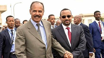 Eritrean President begins historic visit to Ethiopia [No Comment]