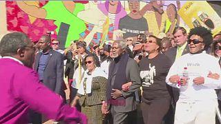 """Afrique du sud: marche en hommage au """"long chemin vers la liberté"""" de Nelson Mandela"""