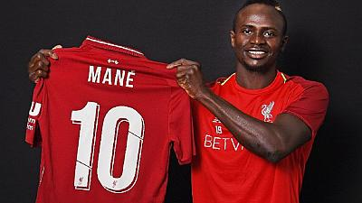 Senegal's Sadio Mane handed famous number 10 jersey at Liverpool