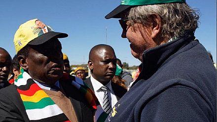 Zimbabwe : Mnangagwa à la conquête des électeurs blancs
