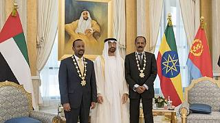 Photos: Ethiopia-Eritrea leaders meet in UAE, awarded for peace deal