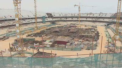 Côte d'Ivoire : visite des chantiers de la CAN 2021
