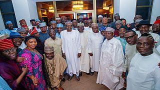 [Photos] Des sénateurs de l'APC rendent visite au président Buhari