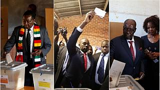 Mnangagwa, Chamisa and Mugabe cast their vote