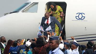 Thousands welcome DR Congo opposition leader Bemba