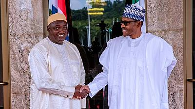 Buhari lauds Barrow for stability in post-Jammeh Gambia