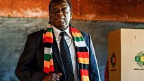 President Mnangagwa votes in post Mugabe elections in Zimbabwe [No Comment]