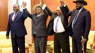 South Sudan's rival leaders sign power-sharing agreement