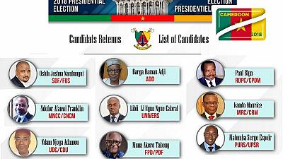 Cameroon's ELECAM clears Biya, eight others for October 7 polls