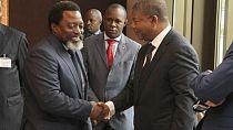 Congolese President Joseph Kabila visits Angola [No Comment]