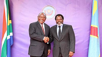 Photos: Outgoing DRC president Kabila meets Ramaphosa