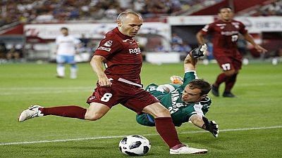 Championnat japonais de football: premier but d'Andres Iniesta, Torres toujours bredouille