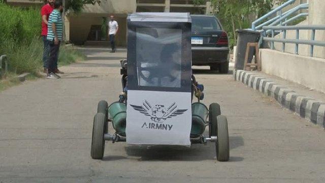 Un projet de véhicule à air comprimé pour lutter contre la hausse des prix du carburant en Egypte [No Comment]