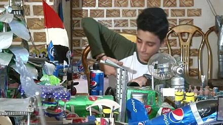 Egyptian teenager transforms tin into toys [No Comment]