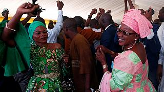 Supporters of Malian president celebrate re-election victory
