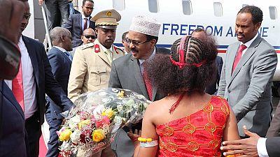 Somalia president in Djibouti for talks amid diplomatic tension