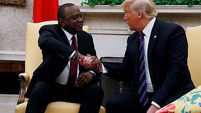 How the Trump-Kenyatta meeting played out on Twitter
