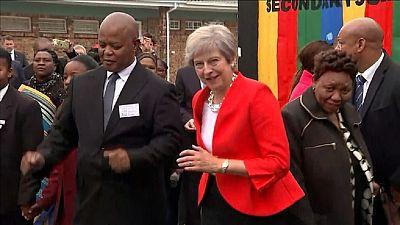 [Vidéo] Quand l'Afrique du Sud fait danser Theresa May