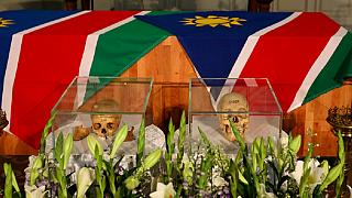 Photos: Germany returns Namibia genocide skulls