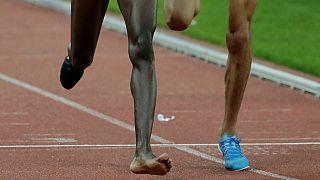 Photos: Shoe off, no problem: Kenyan athlete wins race with one shoe