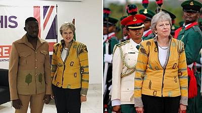 Photos: Nigerian designer of Theresa May's African jacket thrilled