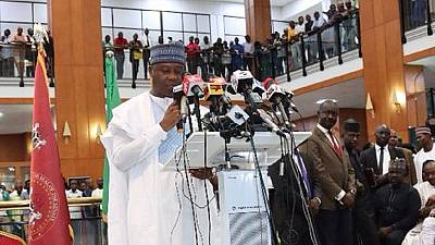 Nigeria Senate president submits presidential nomination forms