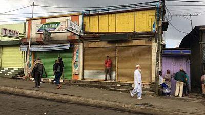 Ethiopia riot police deployed, Addis deserted amid flag clashes