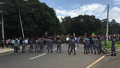 Ethiopians protest in capital against weekend violence