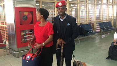 LIVE: Uganda police escort Bobi Wine home to cheers from fans