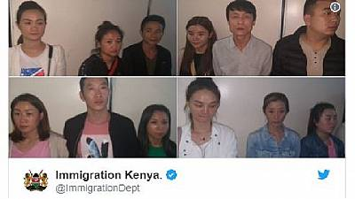 Kenya busts, deports 12 Chinese involved in prostitution
