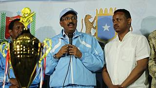 Photos: Somali president joins fans at Mogadishu football final