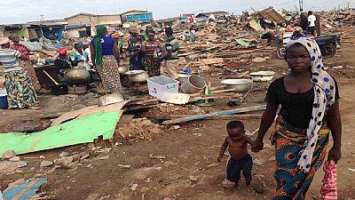 Au Ghana, de la nourriture périmée distribuée aux victimes des inondations