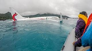 Photos: Locals in heroic rescue as plane overshoots runway into lagoon