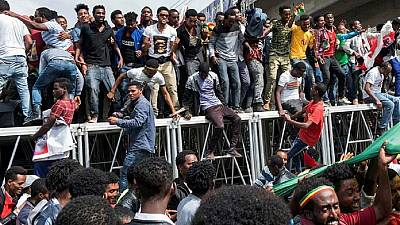 Ethiopia charges five with terrorism over Addis rally attack
