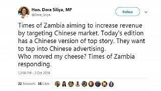Chinese article in Zambia daily to boost readership, ads - govt