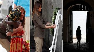 'Slavery was a tragedy': Melania visits slave castle in Ghana