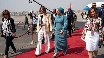 Melania Trump meets Egypt president, visits pyramids