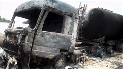 Bus - fuel tanker collision claims 50 lives in DR Congo