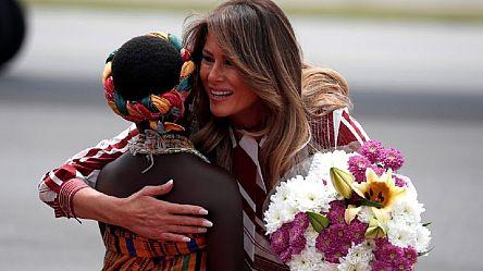 Melania Trump commence sa tournée africaine au Ghana [No Comment]