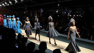 Défilé afro-asiatique à la fashion week de Johannesburg