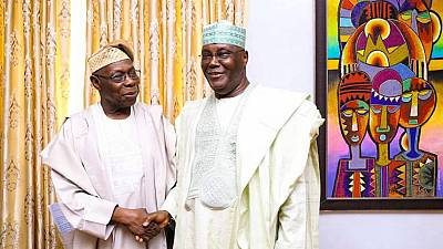 Obasanjo backs Atiku ahead of Nigeria's 2019 polls