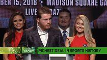Alvarez signs richest deal in sports history [Sport]